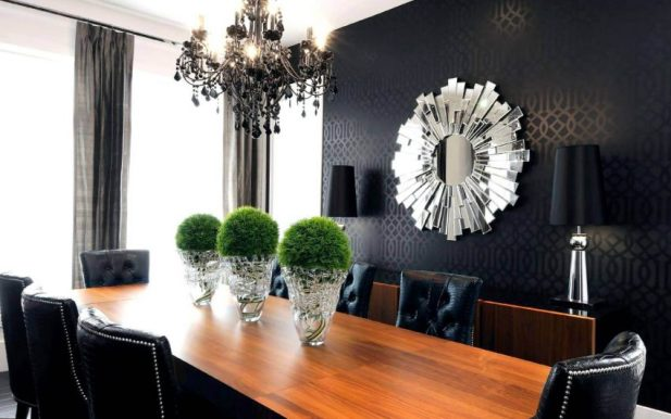Large Dining Room Wall Decor - Bold Wallpaper - Harptimes.com