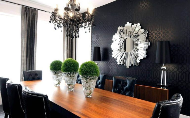 Large Dining Room Wall Decor - Bold Wallpaper - Harptimes.com