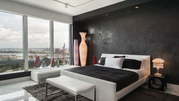 Paint Accent Wall Ideas for Bedroom Black and Bold Faux Painting - Harptimes.com