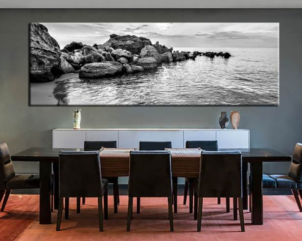 Modern Dining Room Wall Decor - The 3-D Photograph - Harptimes.com