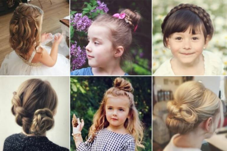 6. Kids Hairstyle Girls to go school - Harptimes.com