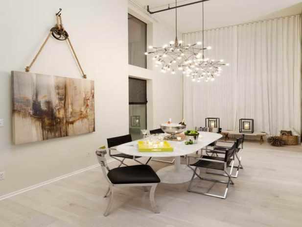Dramatic Painting Dining Room Wall Decor Ideas- Harptimes.com