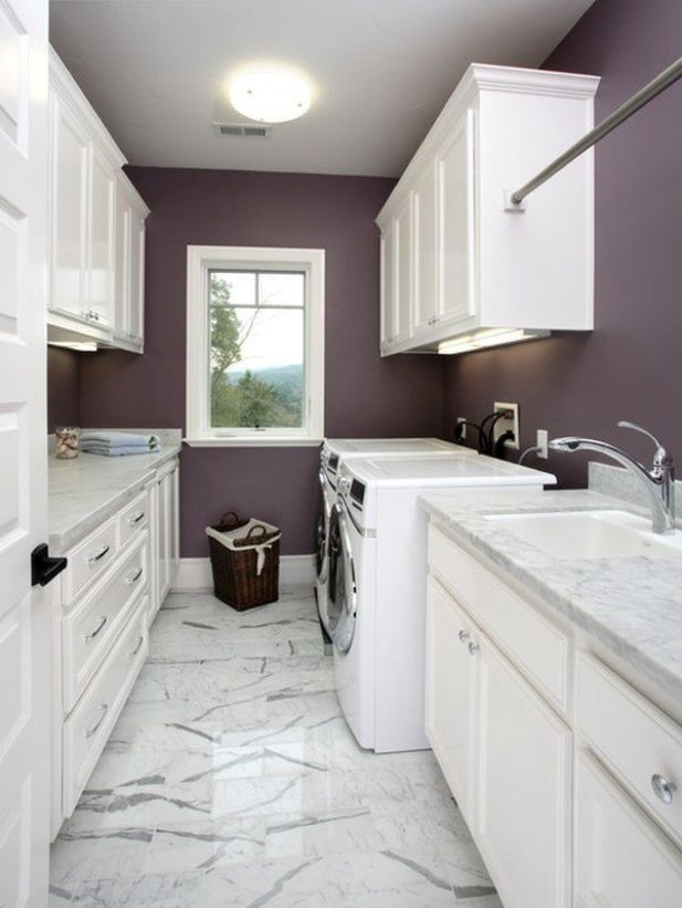 Cute Small Laundry Room Ideas - Make It White - Harptimes.com