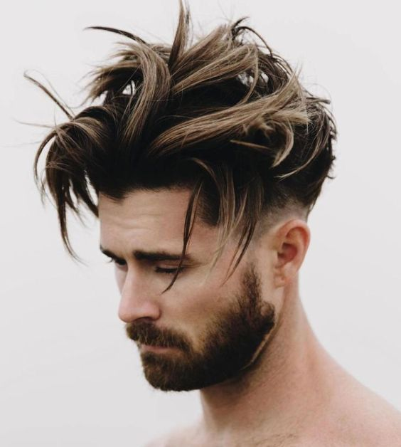 Top Medium Length Hairstyles Men Tousled Balayage Hair - Harptimes.com
