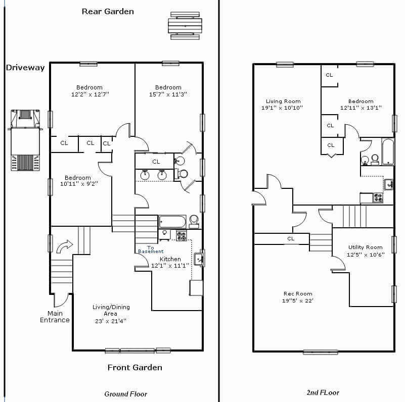 Barndominium Floor Plans - 11. Two-Story Barndominium Floor Plan