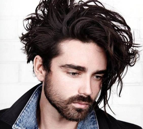 Long Hairstyles for Men - Messy Long Wavy Hairstyles - Harptimes.com