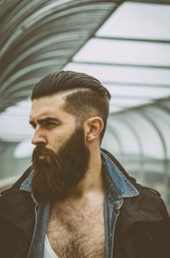 Long Hairstyles for Men - Long Slick Back Hairstyle For Men - Harptimes.com