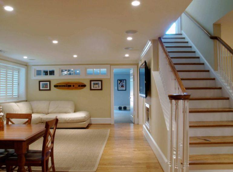 cheap basement ceiling ideas - 9. Choose Low Furniture - Harptimes.com