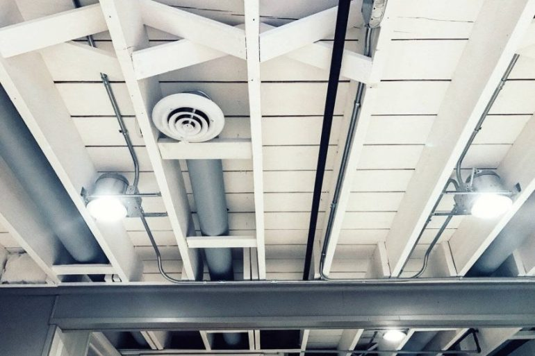 cheap basement ceiling ideas - 20. Finish with Industrial Exposed Ceiling - Harptimes.com