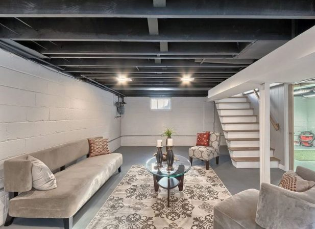 22. Unfinished Basement Ceiling Ideas - Harptimes.com