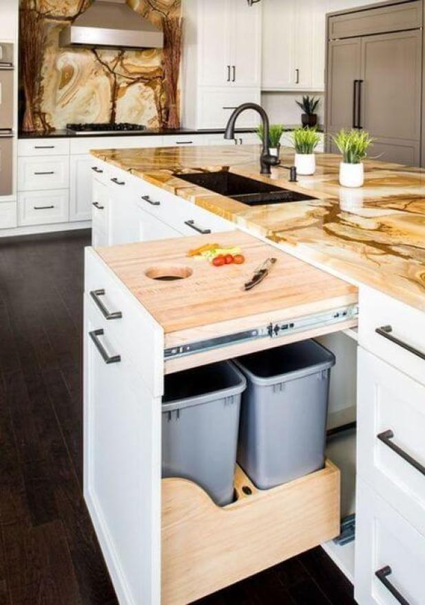 kitchen decor ideas modern - 7. Decorative Portable Kitchen Cart - Harptimes.com