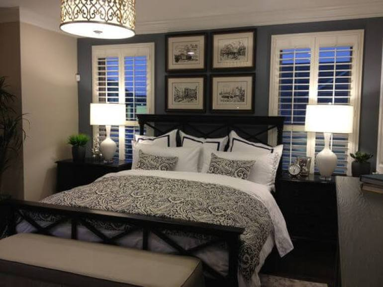 small master bedroom ideas with king size bed - 14. Black Master Bedroom Furniture Decor -Harptimes.com