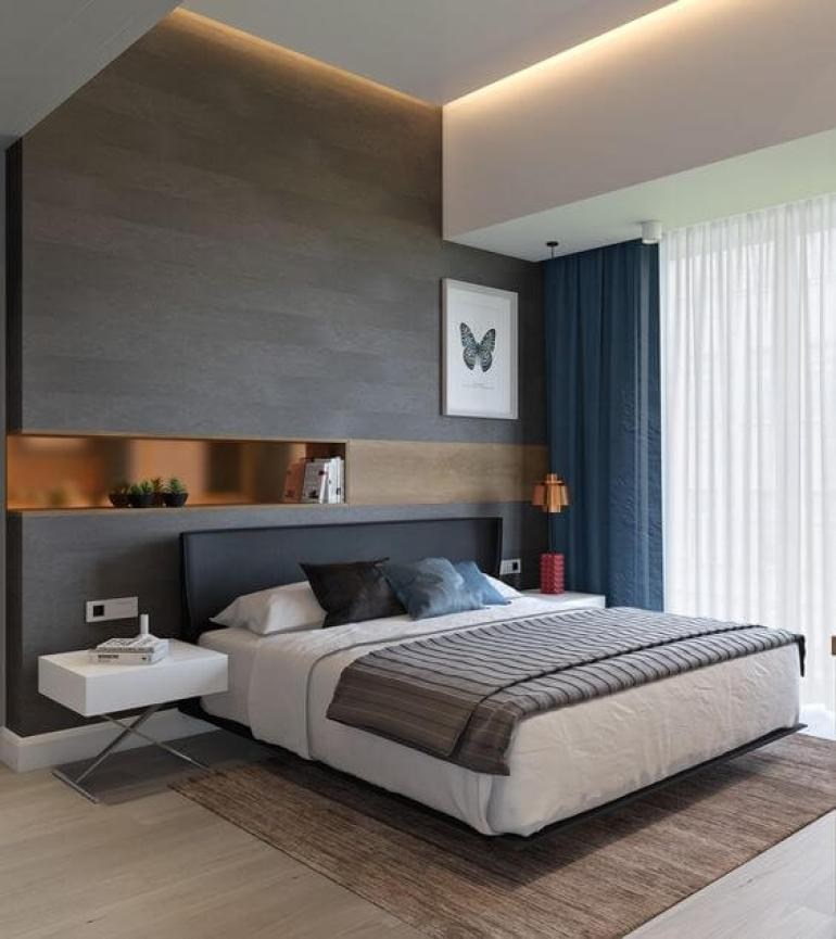 7. Beautiful Master Bedroom Ideas for Apartment - Harptimes.com