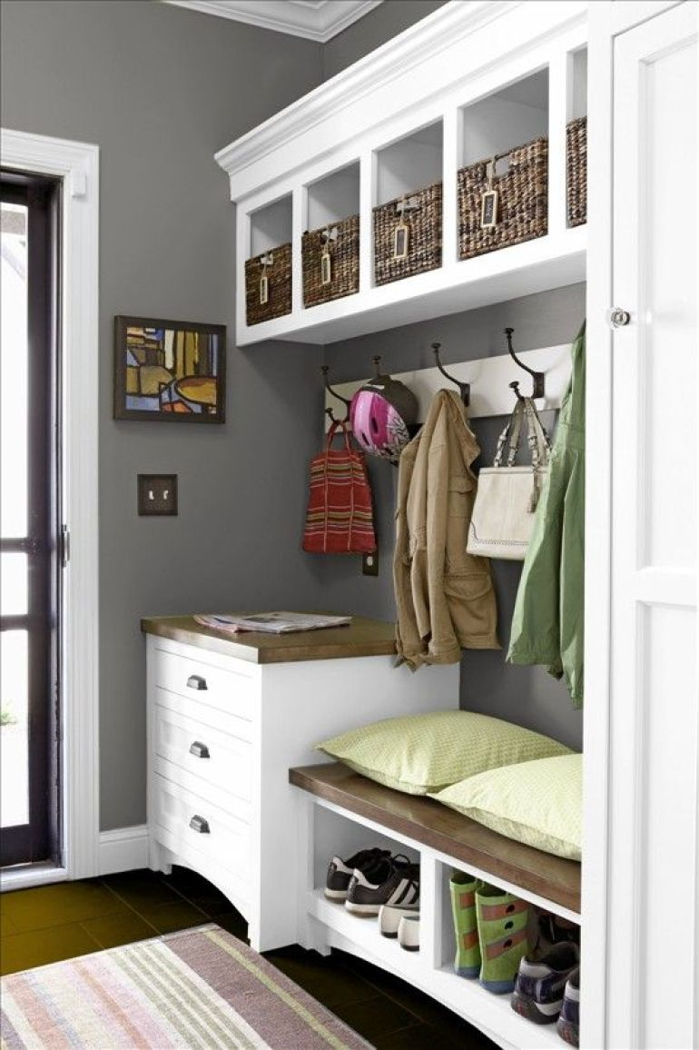 garage mudroom ideas - 9. Mudroom Ideas with Simple Setup - Harptimes.com