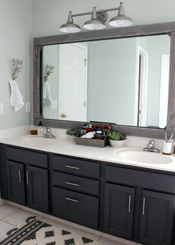 Bathroom Cabinet Ideas Affordable Bathroom Remodel with Black Cabinet - Harptimes.com