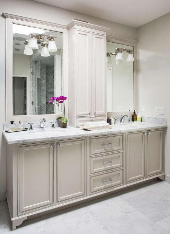 Bathroom Cabinet Ideas Traditional Cabinet With For Master Bathroom Ideas - Harptimes.com