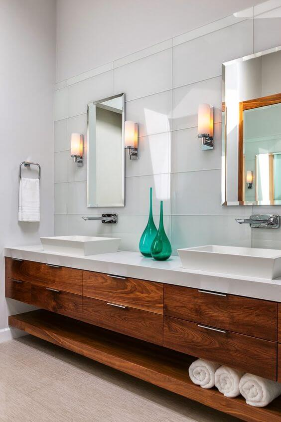 Bathroom Cabinet Ideas Walnut Wood Bathroom Cabinet Ideas - Harptimes.com