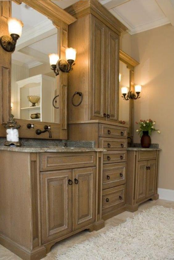 Bathroom Cabinet Ideas Wooden Tower Cabinet for Bathroom - Harptimes.com