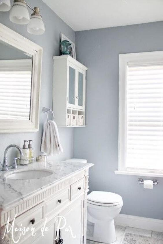 Bathroom Color Paint Ideas Gorgeous White and Gray Marble Bathroom - Harptimes.com