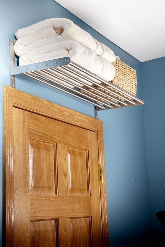 Bathroom Storage Ideas Above Door Shelf In The Bathroom - Harptimes.com