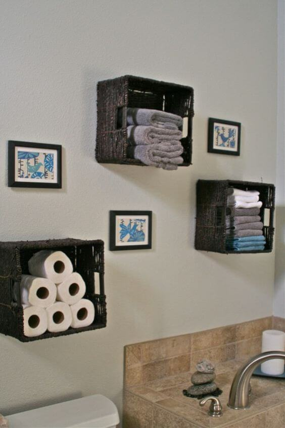Bathroom Storage Ideas Cleverly Work the Wall - Harptimes.com
