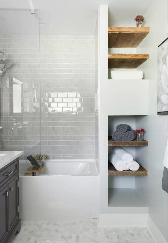 Bathroom Storage Ideas Small Bathroom with Built-In Tower Storage - Harptimes.com