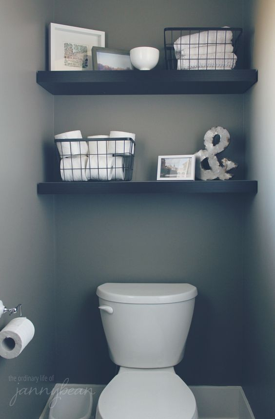 Bathroom Wall Decor Simple Modern over the Toilet Shelves - Harptimes.com