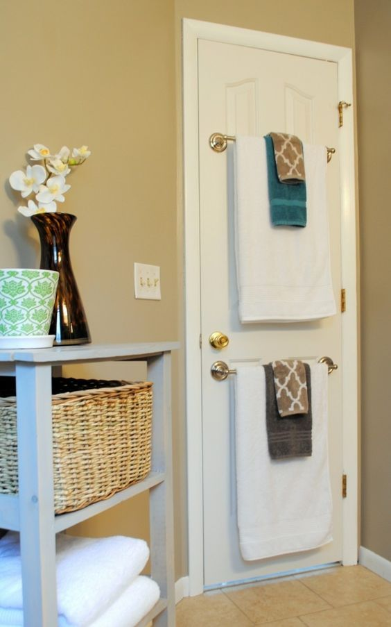 Bathroom Wall Decor Towel Hanger behind the Door - Harptimes.com