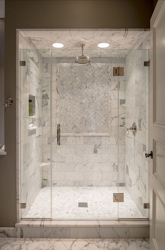 Beautiful Marble Shower Design Walk In Shower Tile Ideas - Harptimes.com