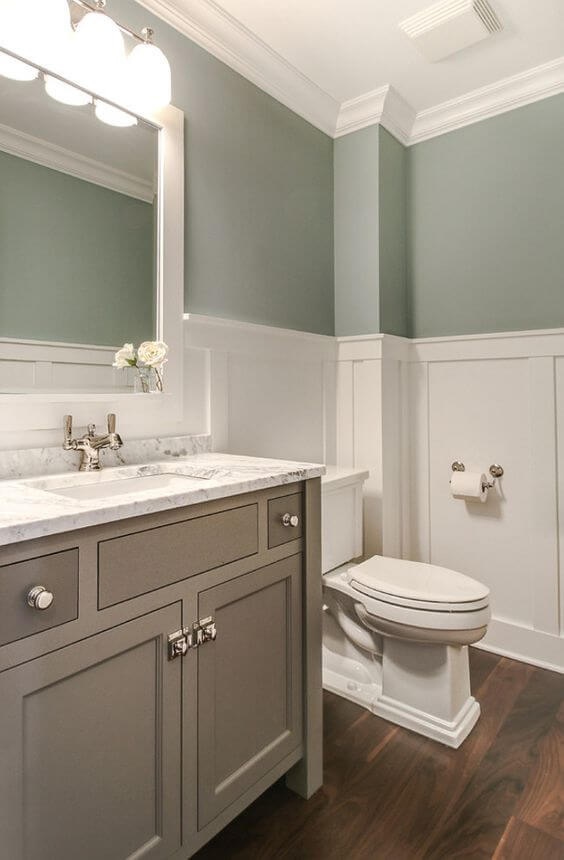 Guest Bathroom Ideas Wainscoting in a Bathroom - Harptimes.com