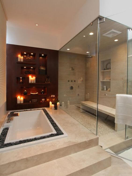 Romantic Master Bathroom Ideas Design - Harptimes.com