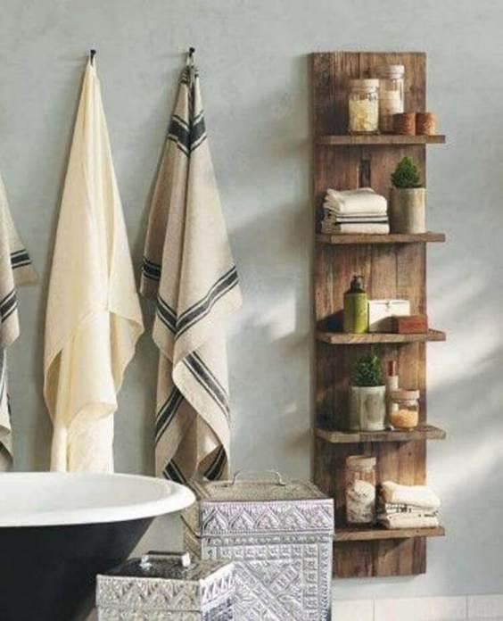 Rustic Bathroom Ideas Elmwood Modular Shelf - Harptimes.com