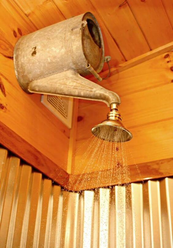 Rustic Bathroom Ideas Watering Can Shower Ideas - Harptimes.com