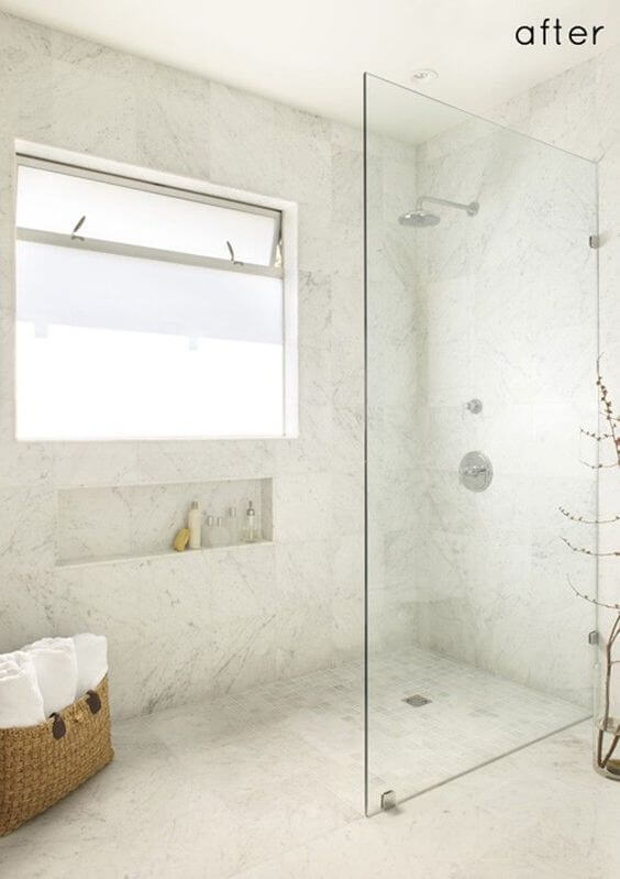 Seamlessly Blended Walk In Shower Tile Ideas - Harptimes.com