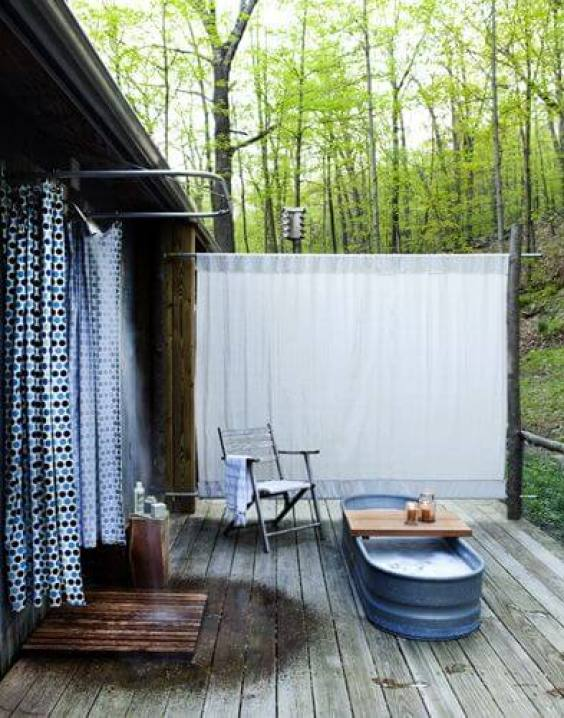 Outdoor Shower Ideas Cottage Outdoor Bathroom - Harptimes.com