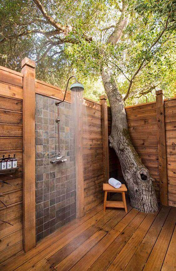 Outdoor Shower Ideas Stunning Minimalist Outdoor Shower - Harptimes.com