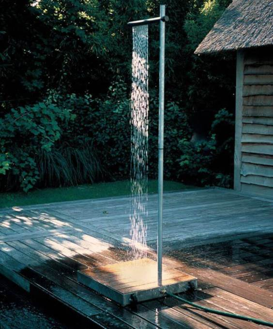 Simple Outdoor Shower Ideas Cascade - Harptimes.com