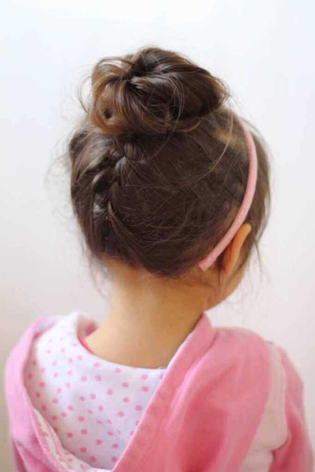 Baby Hairstyles Braids into Bun