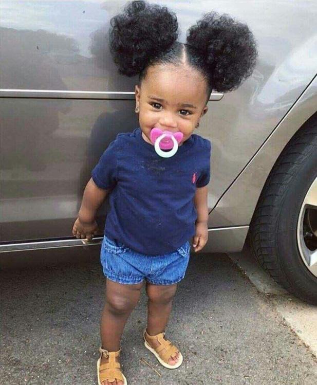 Cute Little Girls Little Black Girl Hairstyles Dual Puffs