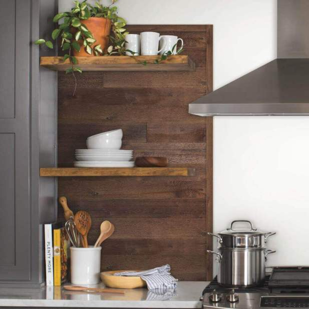 Dark Wood Accent Wall Ideas for Kitchen