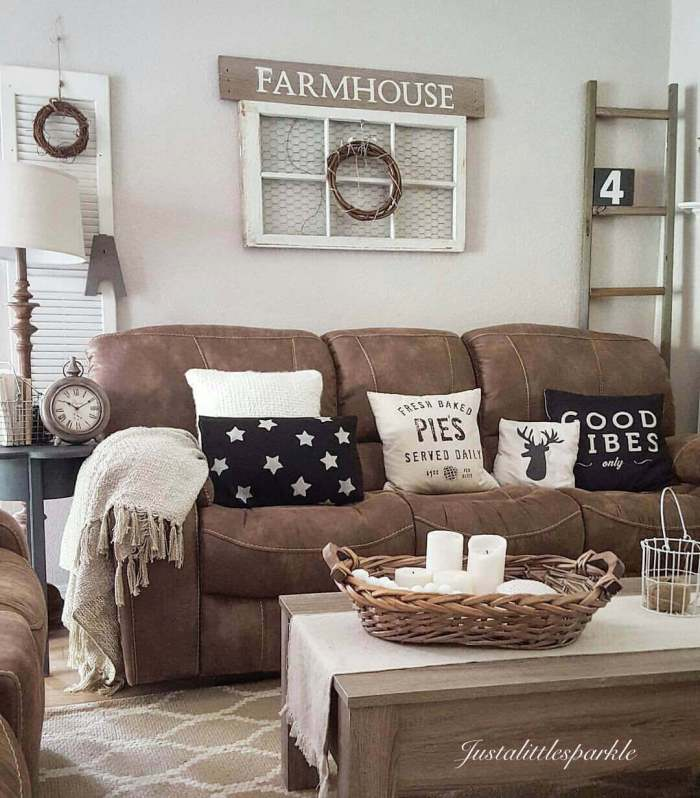 Farmhouse Living Room Ideas on a Budget - Harptimes