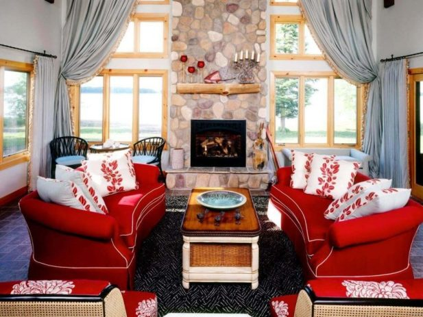 Floor-to-Ceiling Curtains Living Room Ideas