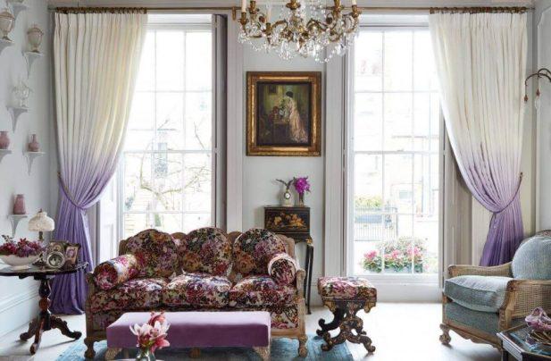 Georgian Curtains Living Room Ideas with a Parisian Feel