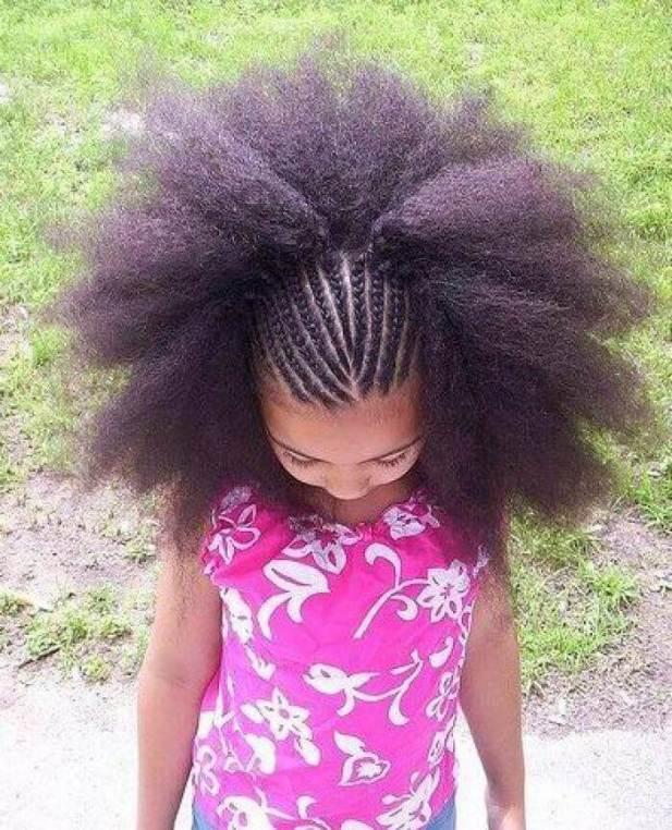 Little Black Girl Hairstyles That Looks Like a Flower
