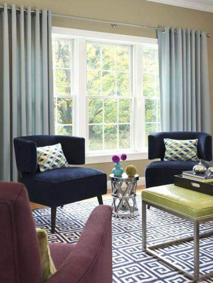Pinch Pleat Living Room Curtains Ideas - Harptimes.com