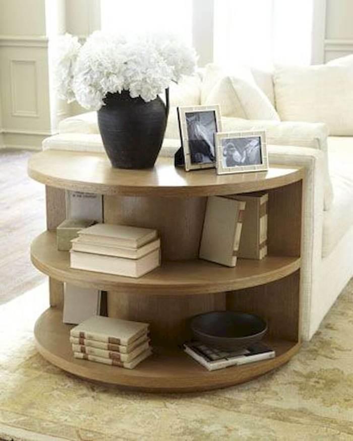 Semi-circular Corner Sofa Table Decor Ideas