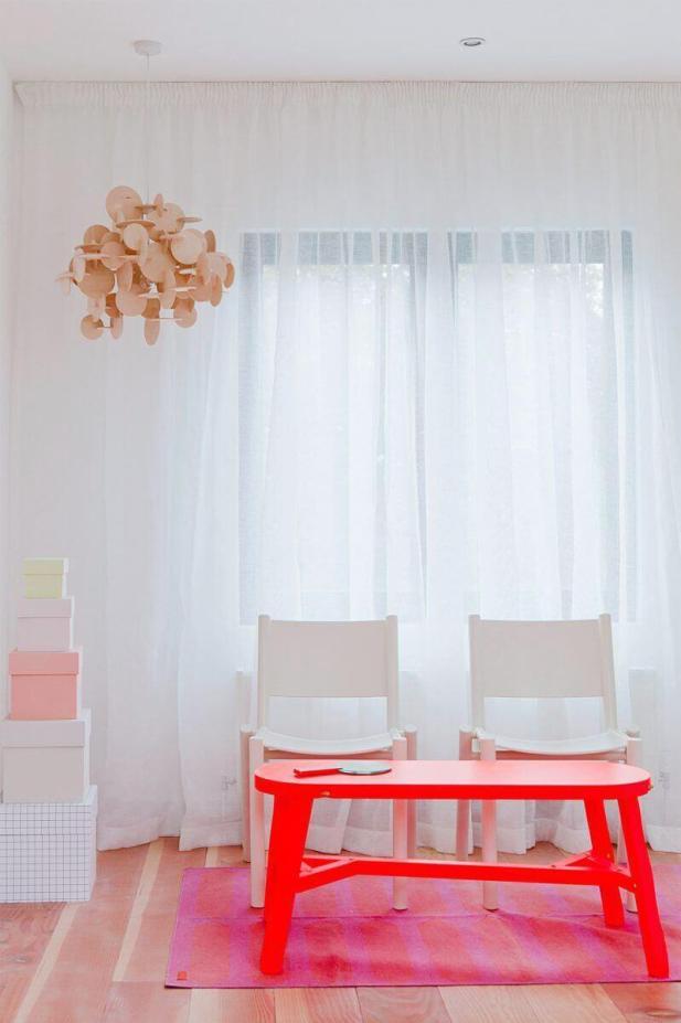 Sheer White Living Room Curtains Idea
