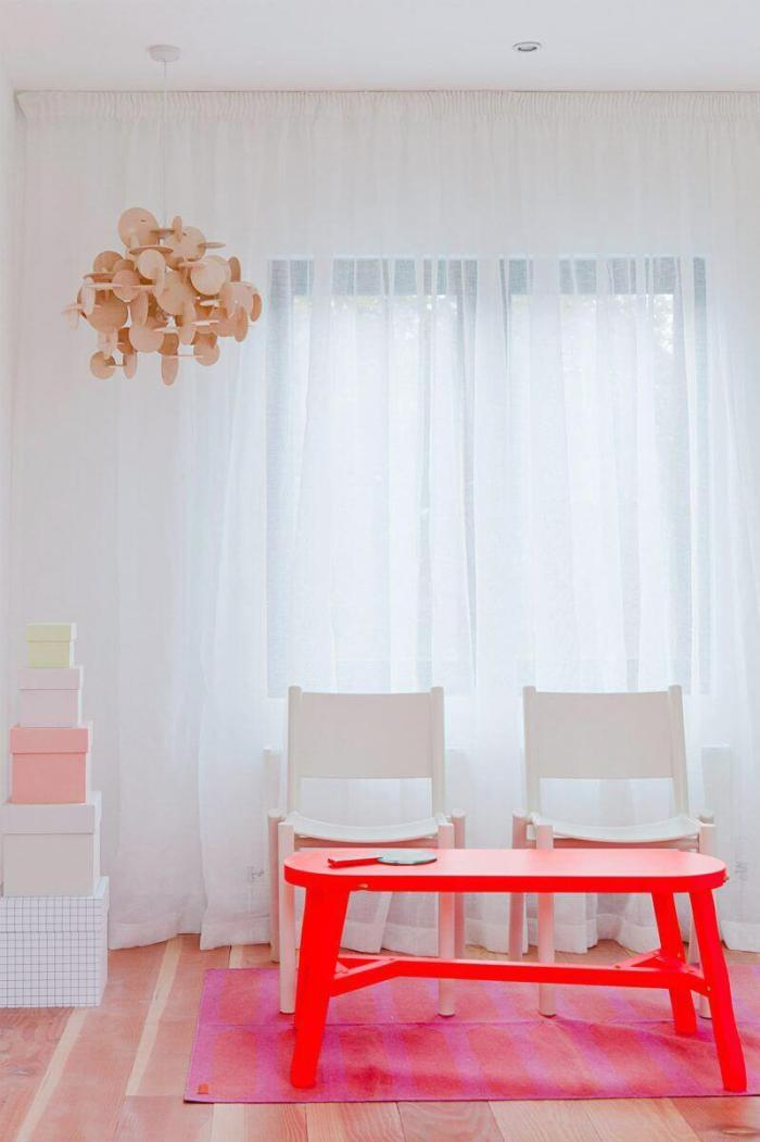 Sheer White Living Room Curtains Idea - Harptimes.com