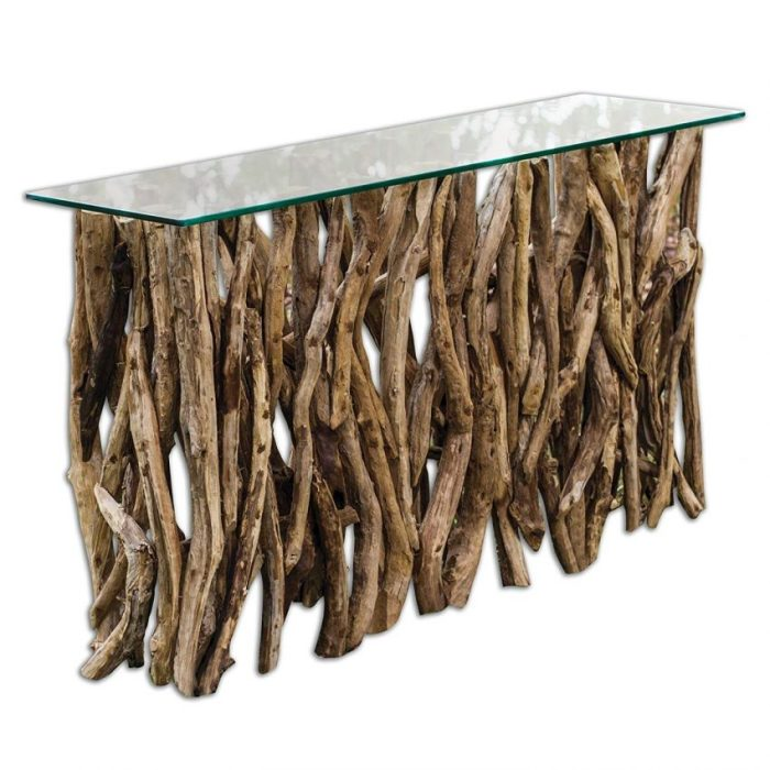 Teak Wood Sofa Table Decor Ideas