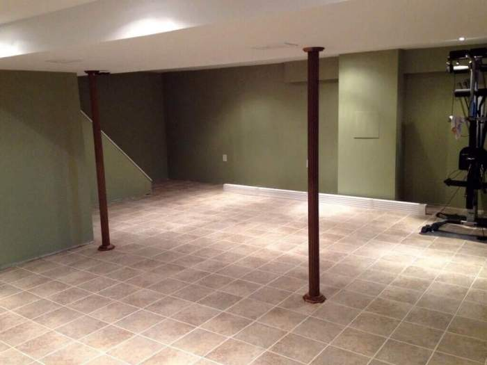 Ceramic or Porcelain Tile Flooring for Basement Paint Ideas